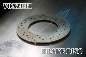The brand new VonZeti BMW Disc brake!! Big improvement on the original BMW Airhead Disc Brake upgrade - perfect for BMW R90, R100RS